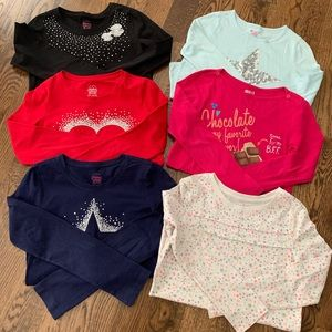 Other - Girls lot of Long sleeved 10/12 tops 8pieces